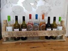 ✅HOMEMADE RUSTIC WOODEN WINE GLASSES SPIRITS SHELF SHABBY SHOERACK WALL MOUNTED