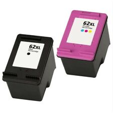 Refilled HP 62XL Black And HP 62 XL Colour Ink Cartridges C2P05AE C2P07AE