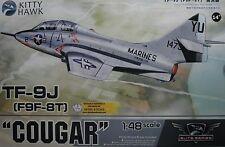1/48 Grumman TF-9J (F9F-8T) Cougar model Kit by Kitty Hawk Models