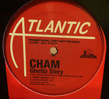 """(Baby) CHAM Ghetto Story 12"""" PROMO Atlantic / Mad House UNPLAYED Dave Kelly"""