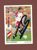 Flemming Povlsen .. Dänischer  Nationalspieler ...  Signierte Upper Deck Karte