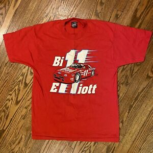 Vintage  Bill Elliott Single Stitch T-shirt Large NASCAR Racing