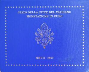 VAX2007.1 - COFFRET BU VATICAN - 2007 - 1 cent à 2 euros