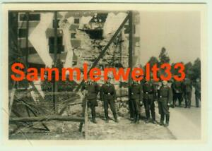 2 x Foto Soldaten Zerstörung BUNKER / ROERMOND / HOLLAND 1940 !!! TOP !!! F397