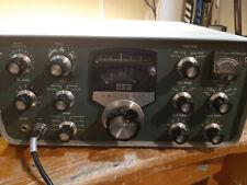 New ListingHeathkit Sb-100 Ham Radio, Hp-600 speaker and power supply, microphone and manua