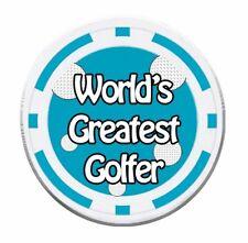 Golf Poker Chip Balle Marqueur-Worlds Greatest Golfeur