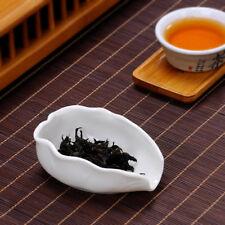 Lotus Leaf Shape White Porcelain Tea Presentation Vessel Cha He Tea Accessories