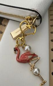 Flamingo Purse Key Ring Keychain Purse Charm Dangle Charm