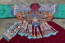 Kuchi Culture Coins Balochi Fashion Long Frock Unique Old Ethnic Dress
