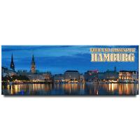 Hamburg panoramic fridge magnet Germany travel souvenir