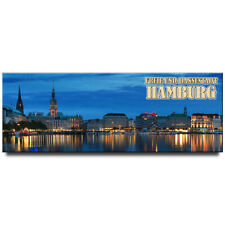 Hamburg panoramic fridge magnet Germany travel souvenir