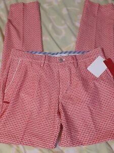 Callaway Golf Pants Slim Fit Men' Large Japan Tag Red Baseball Diamonds 33×33