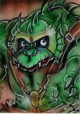 ThunderCATS Villain SLITHE Original Sketch Card Painting by Bianca Thompson