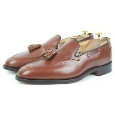 Tricker's Tan Brown Leather Tassel Loafers UK 9.5