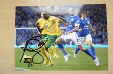 Signed Colour Pictures- ALEXANDER BANOR TETTEY, Norwich City F.C. (7x5 inch)