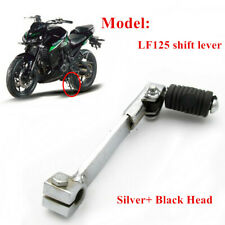 Motorcycle CNC Snap Fold Back Foot Gear Shift Lever Foldable Silver+ Black Part