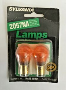 Sylvania NOS 2057NA Turn Signal, Amber Glass!  Old School dark orange color
