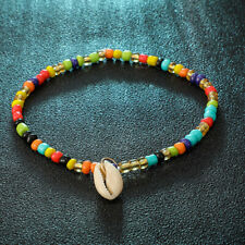 Colorful Beads Foot Chain With Shell Pendant Anklet Bracelet Beach Jewelry