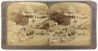 India Dilwara Tempio Jaina Monte Abu, Foto Stereo Vintage Albumina