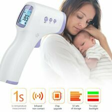 Digital IR Infrared Thermometer Baby Adult Non-contact Forehead Body Temp Gun DR