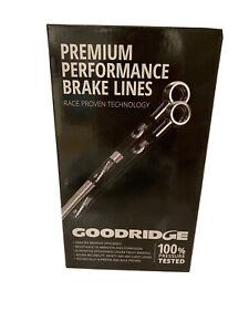 Goodridge Stainless Steel Braided Brake Line Hoses Honda Prelude S/Si/VTEC 1992-