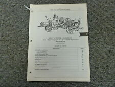 International Harvester IH Type M Power Baling Press Parts Catalog Manual