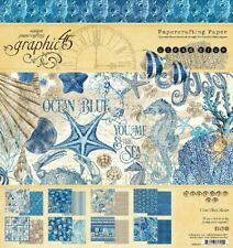 GRAPHIC 45 Ocean Blue 8x8 Pad*Scrapbook Paper Papercrafts DIY