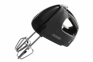 Proctor Silex 62507 5 Speed Easy Mix Hand Mixer Black New