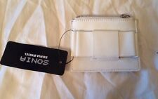 Sonia By Sonia Rykiel White Leather Patent Bow Purse