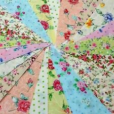 Fabric Bunting  40ft 12m  Floral Shabby Chic Vintage Wedding Hipster Party fete
