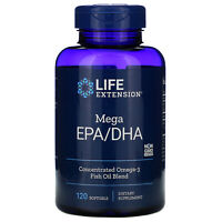 Life Extension  Mega EPA DHA  120 Softgels