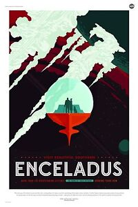 Enceladus Vision of the Future NASA Awesome Space Tourism Travel Posters