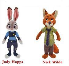 Peluches Nick Wilde et Judy Hopps, de Zootopia-Disney, neuves