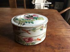 Antique Chinese Republic Stacking Box With Painting And Calligraphy 1900-40