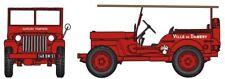 "REE CB-090 Jeep Pompier avec echelle DAMARY ""Feuerwehr"" HO 1:87 NEU"