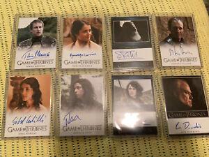 Game Of Thrones Season 3 Autograph Cards 8 - Meera  -Osha - Stannis Baratheon