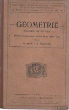 GEOMETRIE (Ecoles de Filles), par HUE et VAGNIER, Librairie DELAGRAVE