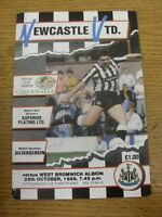 25/10/1989 Newcastle United v West Bromwich Albion [Football League Cup] . Footy