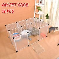 AU 18 Panel Cat Dog Pet DIY Villa Exercise Cage Fence Enclosure Play Pen  ω Ω