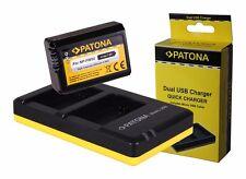 Patona-Akku + Doppel-, Dual-Ladegerät Sony ILCE-6000, Alpha 6000 - NP-FW50