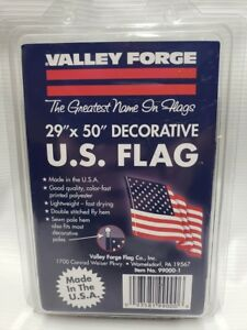 U.S. Banner Flag 2.5ft x 4ft Replacement Flag, No 99000-1  Valley Forge Flag NEW