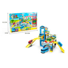 1 SET TAYO The Little Bus City Bus Terminal Parking Lot With 4 CAR Toys Kid Gift