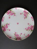 LEFTON Geo Z Lefton Dinner Plate #1993 ~ Pink Rose ~ 10.5 inch