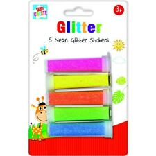 Glitter Tubes Kids Childrens Arts and Crafts 5 Neon Glitter Shakers