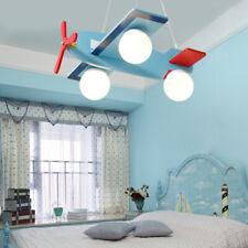 Children's Airplane Shape Led Chandelier Ceiling Light Kids Bedroom Pendant Lamp