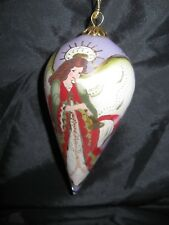 Li Bien Chinese Angel Ornament Hand Painted With Red Velvet Gift Box Gold Lock