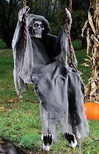 "Swinging Reaper Halloween Decoration Gray 60"" Indoor Outdoor Scary Spooky Horror"