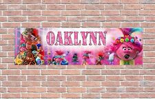 Trolls World Tour Poster Personalized Customized Name Banner Birthday Wall Decor