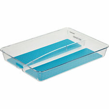 Madesmart Utensil Tray Clear Blue 2 Sections #90018