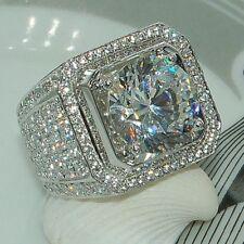 Fashion 925 Silver Princess Cut White Sapphire Ring Wedding Engagement Jewelry